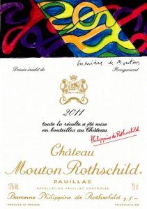 Mouton Rothschild 2011 etiquette