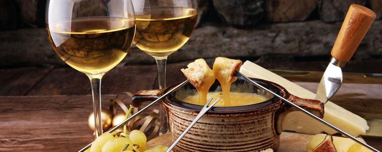 vin blanc vin rouge fondue bourguignonne et savoyarde